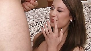 18 yo college girl gets her pretty face drenched in cum
