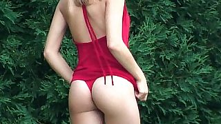 Teen Kasia in Red Dress