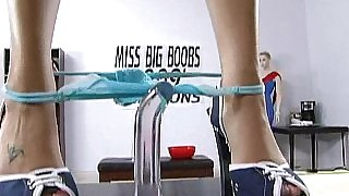 Miss Big Boobs caught masturbating