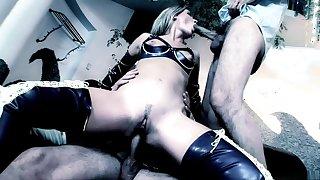 Horny pornstars Regina Ice and Cherry Jul in amazing fetish, anal sex video