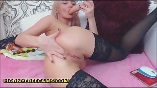 Squirty Blonde Is Up For Some Gapping Anal Toying