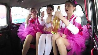 Hen party gets wild in Prague taxi