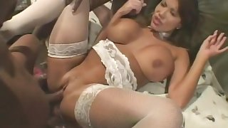 Horny pornstar Ava Devine in fabulous gangbang, group sex porn movie