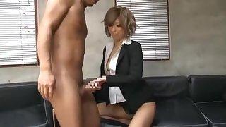 Incredible Japanese chick Haru Sakuraba in Crazy Masturbation, Creampie JAV video