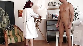 Sex with old granny paintress