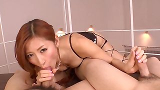 Cock sucking double porn with Reira Aisaki