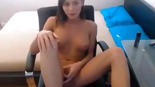 Fabulous Amateur Shemale video with Masturbation, College scenes