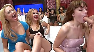 Crazy party with tons of horny housewives